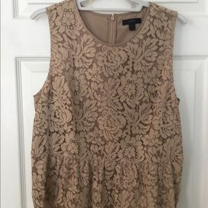 J crew lace top lined